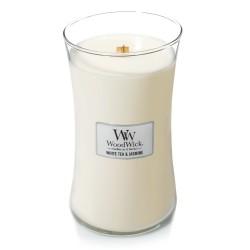 WHITE TEA & JASMINE ŚWIECA DUŻA - WoodWick