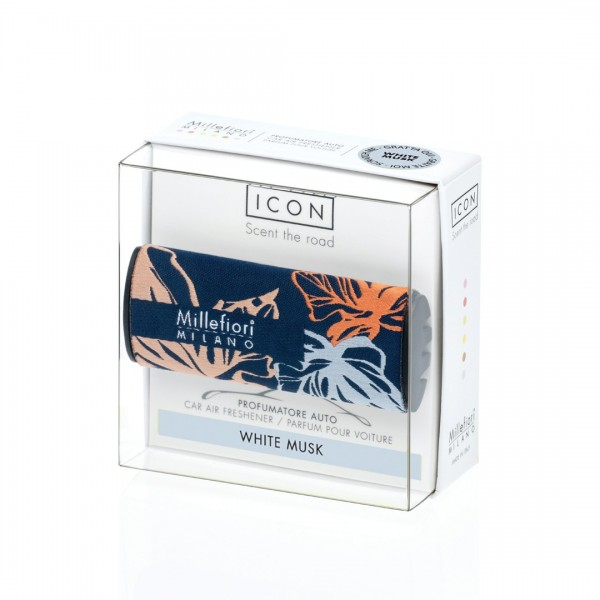 """CAR ICON """"Textile Floral"""" White Musk"""