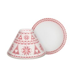 RED NORDIC FROSTED GLASS Duży klosz + talerz - Yankee Candle