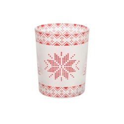 RED NORDIC FROSTED GLASS Świecznik na votive/ tealight - Yankee Candle